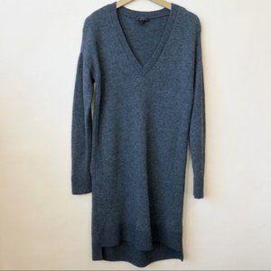 J Crew V-Neck Wool Alpaca blend Gray Sweater Dress